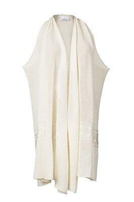 colete de tricô multifuncional | buddakan off white | coleteria in the city