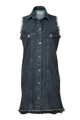 colete e vestido jeans | mr. big escuro | coleteria in the city