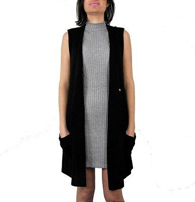 colete e vestido de tricô | downtown preto | coleteria in the city