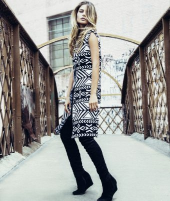 colete e vestido de tricô | cosmopolitan P&B | coleteria in the city