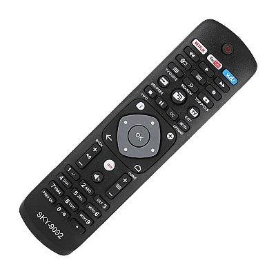 Controle Universal P/ Tv Philips 3d Netflix Youtube Vudu