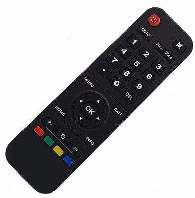 Controle Remoto Receptor Smart Tv Htv Box 5 IPTV Wi-Fi Hd Android Netflix