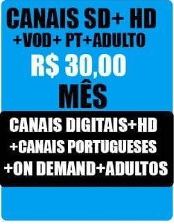 Pacote Completo Canais IPTV  HD Full HD TV , On-Demand , Seriados, canais  Adultos,  mais de 2000  Canais  - 30 dias