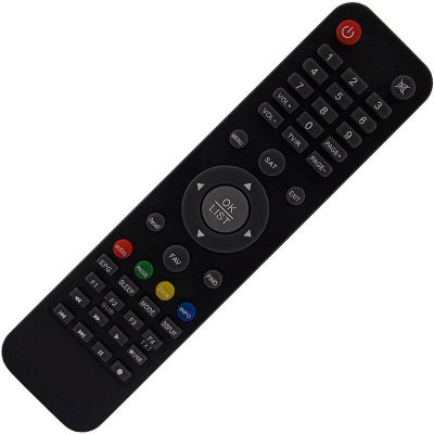 Controle Remoto Receptor Fta Azamerica Champions 4K Full HD