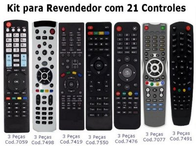 KIT com 21 unidades vários Modelos, Cinebox, Attonet, Bravissimo, Azamerica, Tocomsat, Duosat