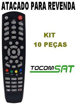 Controle Remoto Receptor Tocomsat Kit 10 Peças