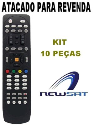 Controle Remoto Receptor Newsat Lion Hd- KIt com 10 Peças