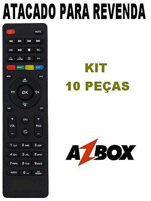 Controle Remoto Receptor Azbox Surprise HD / Thunder / Bravissimo Plus -  Kit 10 Peças