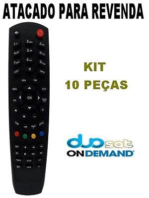 Controle Remoto Receptor Duosat Kit com 10 Peças