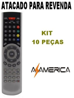 Controle Remoto Receptor Azamérica F98 - Kit com 10 peças