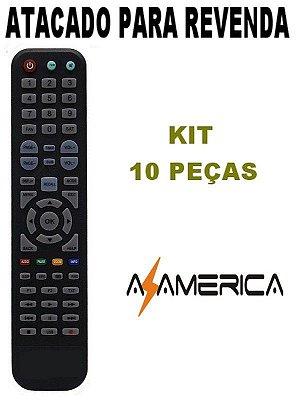 Controle Remoto Receptor Azamérica S2010 - Kit com 10 peças