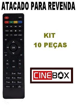 Controle Remoto Receptor Cinebox Fantasia HD / Fantasia X2 / Fantasia Duo - Kit com 10 Peças