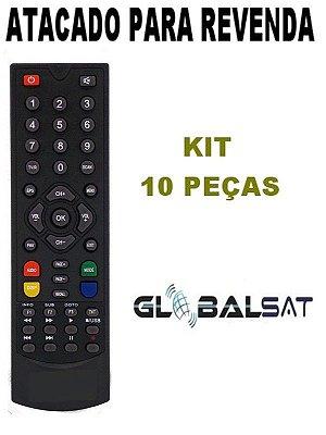 Controle Remoto Receptor Globalsat GS111/ GS120 / GS200 / GS240 / GS300 - Kit com 10 Peças