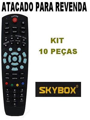 Controle Remoto  Receptor Skybox SkyBox F3 / SkyBox F4 / SkyBox F5 - Kit com 10 Peças