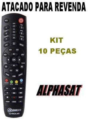 Controle Remoto Receptor Alphasat Chroma / Alphasat GO Kit com 10 Peças