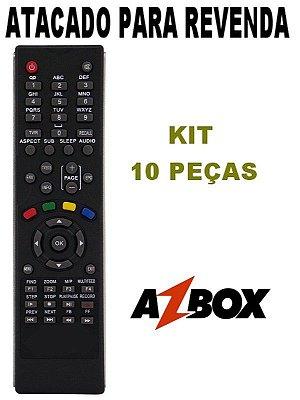 Controle Remoto Receptor Azbox Bravissimo / Moozca Kit com 10 Peças