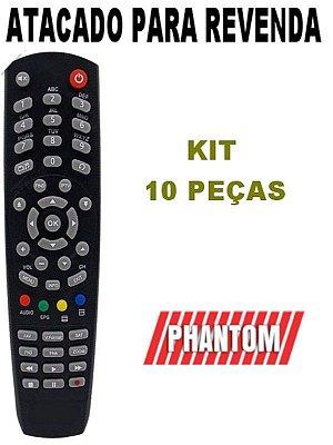 Controle Remoto Receptor Phantom Arena Kit com 10 Peças