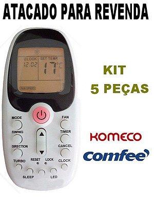 Controle Ar Condicionado Komeco / Midea / Comfee / R06/BGCE - Atacado - Kit com 5 Peças