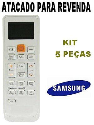 Controle Remoto Ar Condicionado Samsung ARH-5026 / DB63-02818A / DB93-11489C / Virus Doctor - Kit com 5 Peças