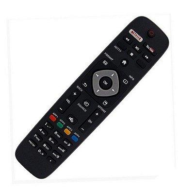 Controle Tv Philips Smart , Lcd , Led C/  Botão Netflix Youtube