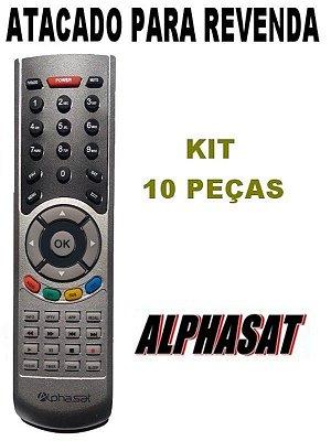 Controle Remoto Receptor Alphasat Go! /  Chroma Plus HD / Receptor Alphasat TX HD -  Kit com 10 Peças