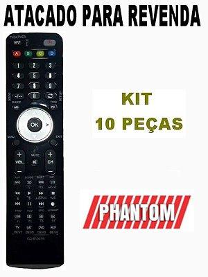 Controle Remoto Receptor Phantom Bios HD Kit com 10 Peças