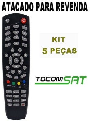 Controle Remoto Receptor Tocomsat Combate S / Tocomsat Duplo Lite HD / Tocomsat Duplo Hd + Kit 5 Peças
