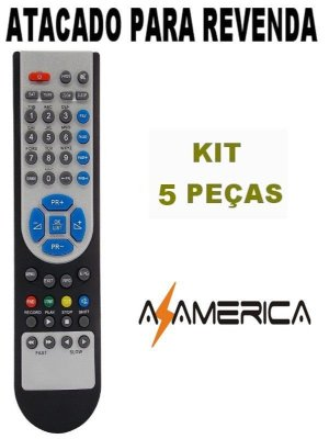 Controle Remoto Receptor Azamérica S920 / S922 Kit com 5 Peças
