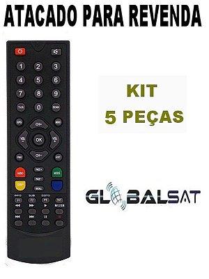 Controle Remoto Receptor Globalsat GS111/ GS120 / GS200 / GS240 / GS300 - Kit com 5 Peças