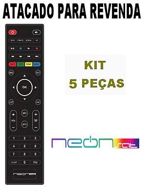 Controle Remoto Receptor Neonsat Colors Tron HD / Colors Neo / Ultimate HD / Ultimate Titanium HD Kit com 5 Peças