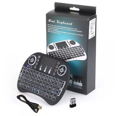Mini Teclado Air Mouse Touch Pad Sem Fio Wireless Universal Pc Tv Box