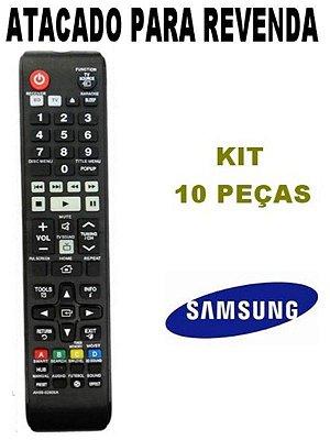 Controle Remoto Samsung Home Theater T-F5505K/ZD / HT-F5525WK / HT-F5505K / AH-59-02606A / T-F5505K/ZD Kit 10 Peças
