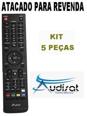 Controle Remoto Receptor Audisat C1 HD - Kit com 5 Peças