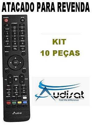 Controle Remoto Receptor Audisat A1/ A3 / A5 / C1 Full HD  - Kit com 10 Peças