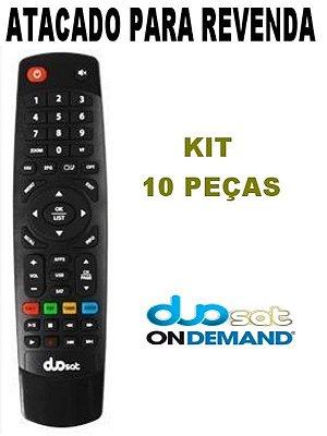 Controle Remoto Receptor Duosat  Troy S HD / Troy HD Legacy / Maxx HD / Wave HD - Kit com 10 Peças