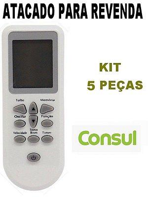 Controle Remoto Para Ar Condicionado Consul Split linha Bem Estar Kit com 5 Peças