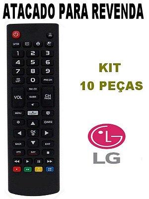 Controle Remoto Tv LG Lcd / Led AKB74915321 - Kit 10 peças