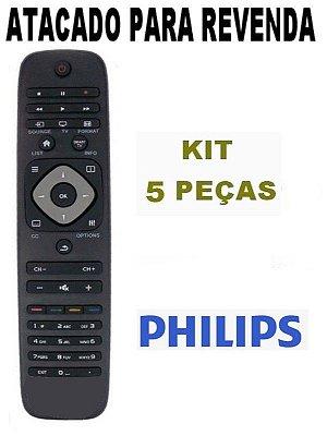 Controle Remoto Tv Philips Smart - RC2964501/01K / - Atacado - Kit com 5 Peças