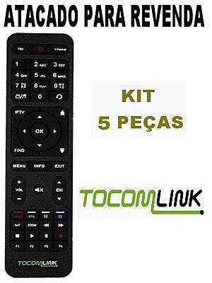 Controle Remoto Receptor Tocomlink Festa HD Acm H265 Wifi  Atacado Kit 5 Peças