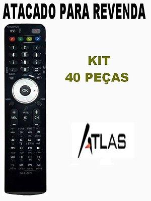 Controle Remoto Receptor Atlas 200 HD  Atacado Kit com 40 Peças
