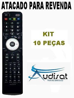 Controle Remoto Receptor Audisat A1/ A3 / A5 / C1 Full HD  - Atacado Kit com 10 Peças
