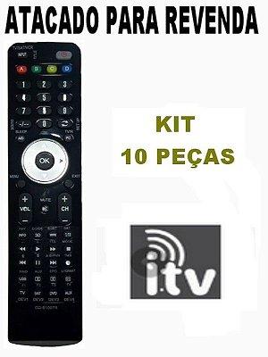 Controle Remoto Receptor ITV OPEN CS HDTV Atacado Kit com 10 Peças