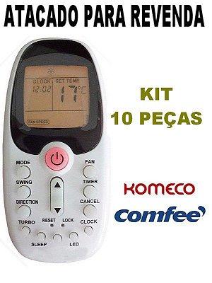 Controle Ar Condicionado Komeco / Midea / Comfee / R06/BGCE - Atacado - Kit com 10 Peças