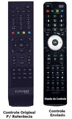Controle Remoto para Receptor Eurosat Full HD ACM