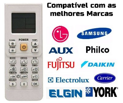 Controle Remoto Ar Condicionado  Universal Ar Condicionado Split /  Elgin / Mais de 90 marcas