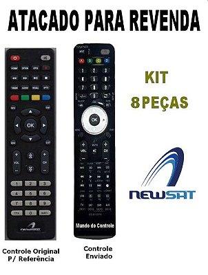 Controle Remoto Receptor Newsat Smart R591 Kit com 8 Peças