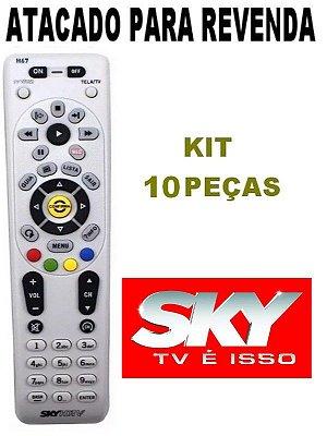 Controle Remoto Original Sky Claro H67  Atacado Kit com 10 Peças