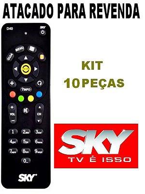 Controle Remoto Sky Digital Sky-livre D40 Novo Original Kit com 10 Peças