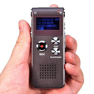Gravador Digital De Voz Profissional 8gb Mp3 Usb 2.0 Rc- 609