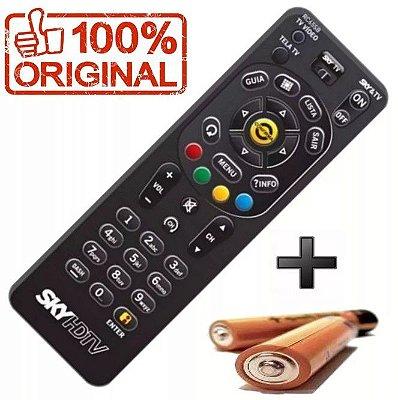 Controle Remoto SKY HD HDTV Zapper RC65SB Original Acompanha 2 Pilhas AAA